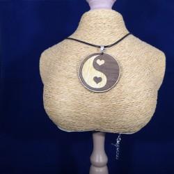 Pendentif ying yang coeur
