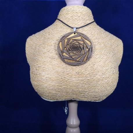 Pendentif Spirale Rose